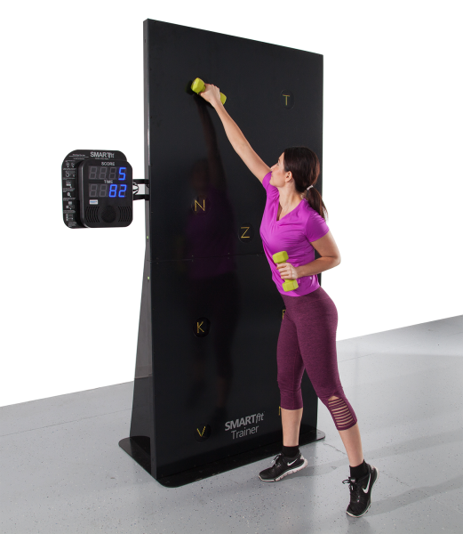 Woman using the SMARTfit trainer
